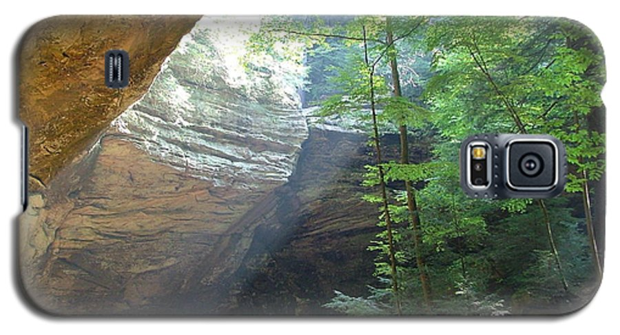 Photograph Galaxy S5 Case featuring the photograph Ash Cave by Mindy Newman