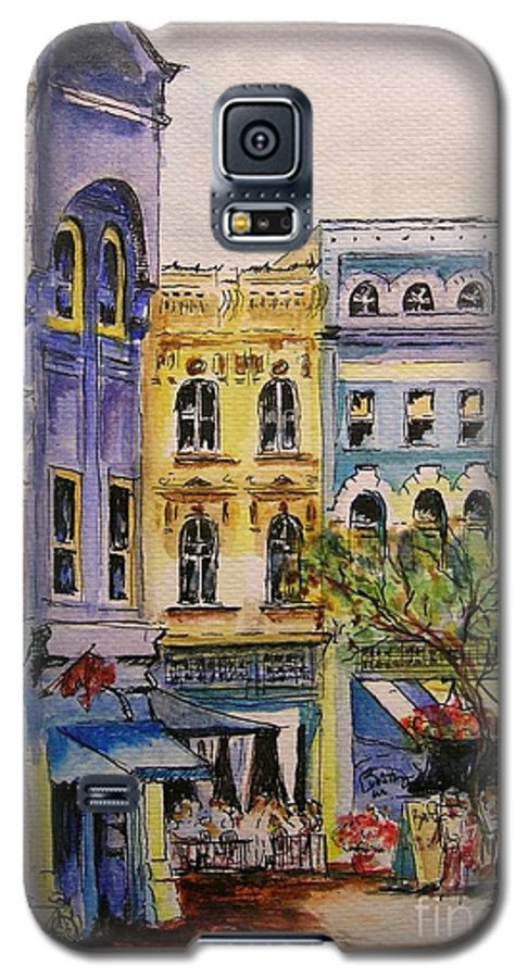 Townhouses Galaxy S5 Case featuring the painting Asheville by Lizzy Forrester