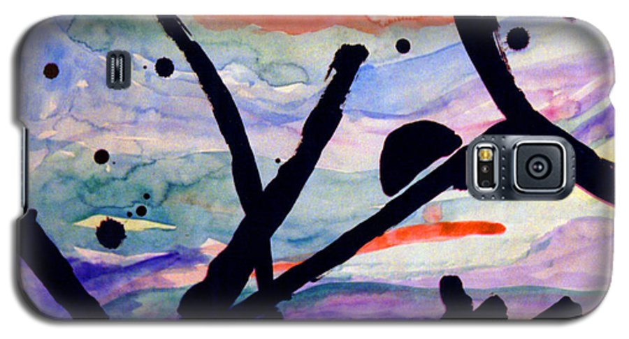 Abstract Galaxy S5 Case featuring the painting Asian Impression by Steve Karol