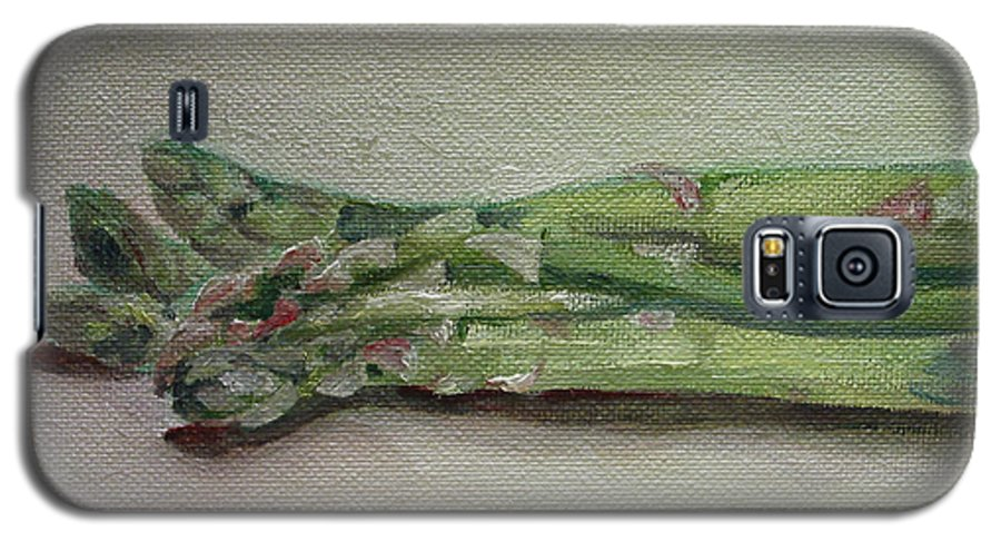 Food Galaxy S5 Case featuring the painting Asparagus by Sarah Lynch