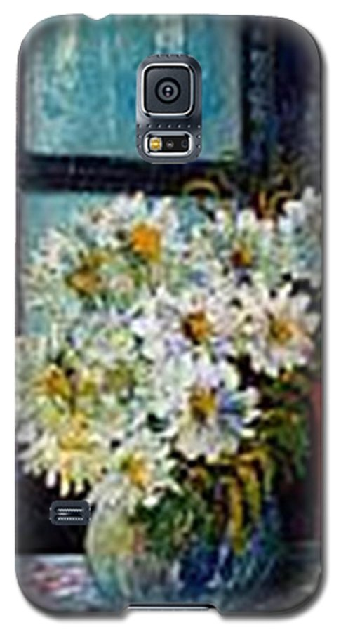 By The Window Galaxy S5 Case featuring the painting At Home by Carol P Kingsley
