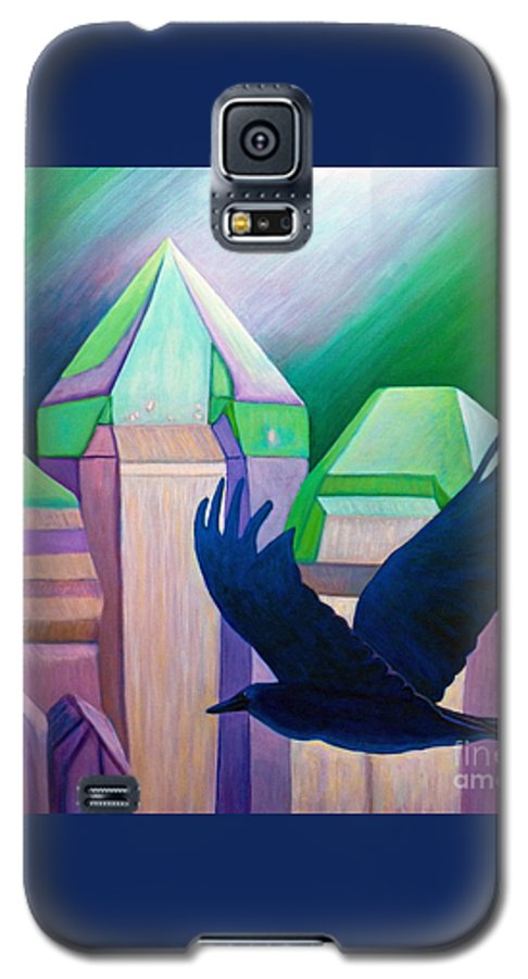 Crystals Galaxy S5 Case featuring the painting Atlantis by Brian Commerford