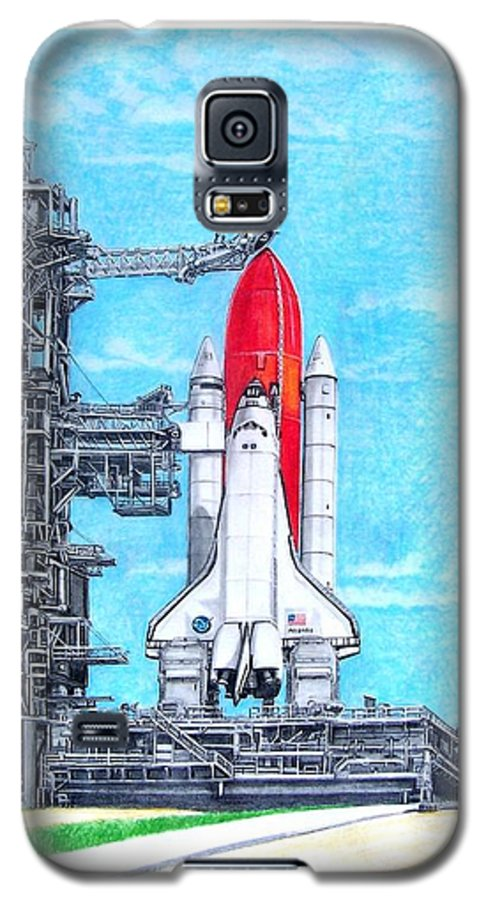 Drawing Galaxy S5 Case featuring the drawing Atlantis by Murphy Elliott