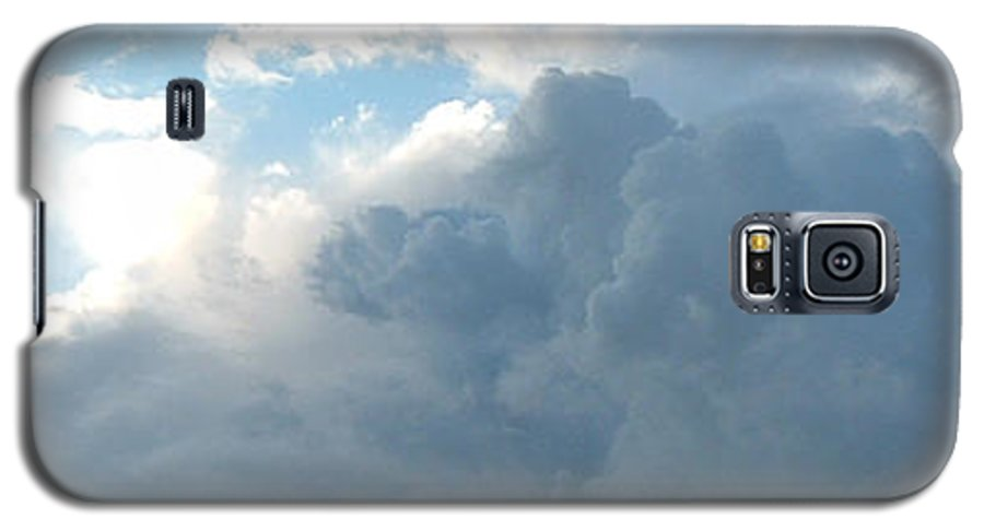 Sky Galaxy S5 Case featuring the photograph Atmospheric Barcode 19 7 2008 16 by Donald Burroughs