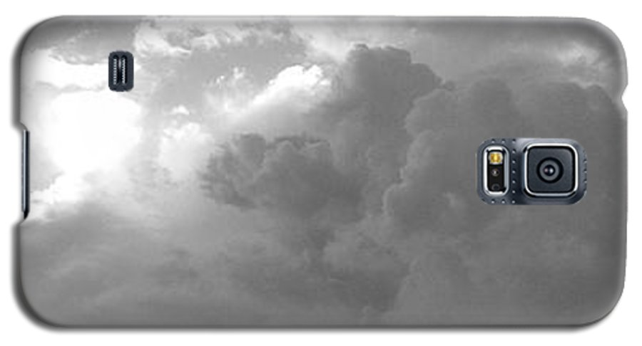 Black And White Galaxy S5 Case featuring the photograph Atmospheric Barcode 19 7 2008 16 Version Bw by Donald Burroughs