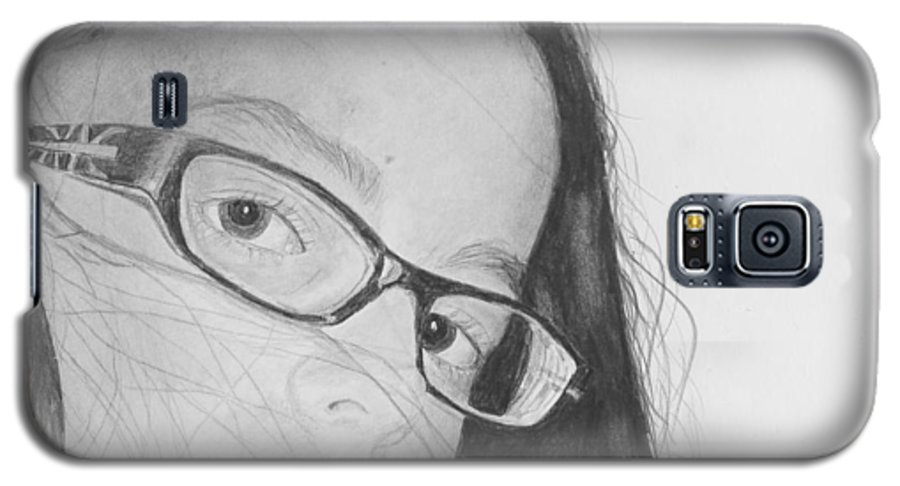 Portrait Galaxy S5 Case featuring the drawing Attitude by Quwatha Valentine