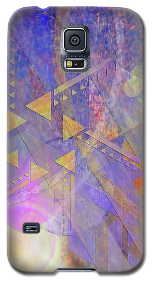 Aurora Aperture Galaxy S5 Case featuring the digital art Aurora Aperture by John Beck