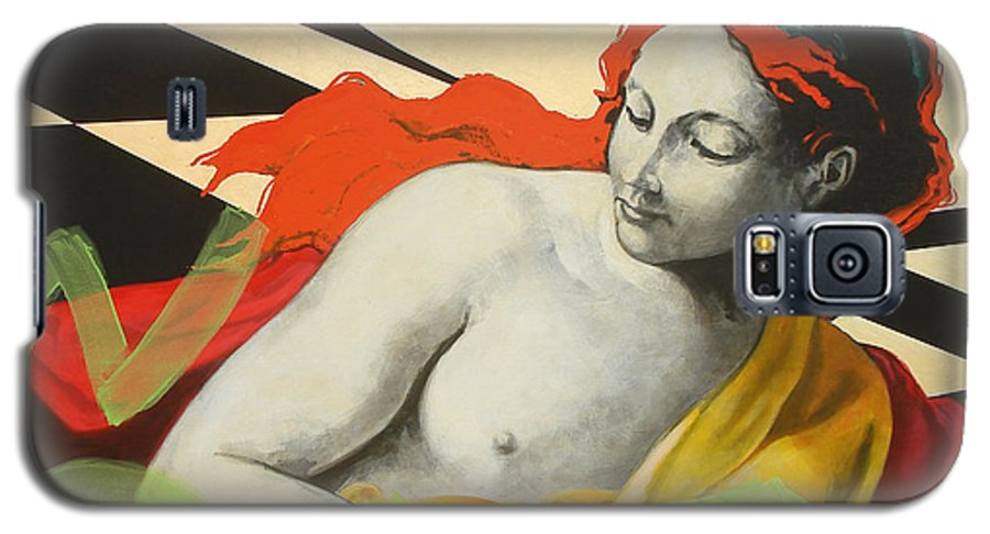 Mythology Galaxy S5 Case featuring the painting Aurora by Jean Pierre Rousselet