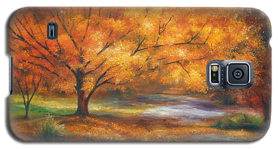 Fall Galaxy S5 Case featuring the painting Autumn by Ann Cockerill