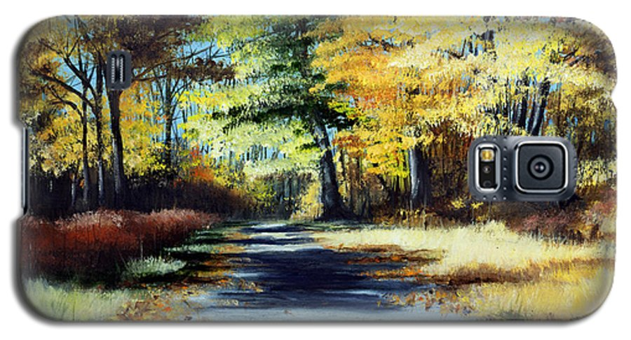 Landscape Galaxy S5 Case featuring the painting Autumn Colors by Paul Walsh