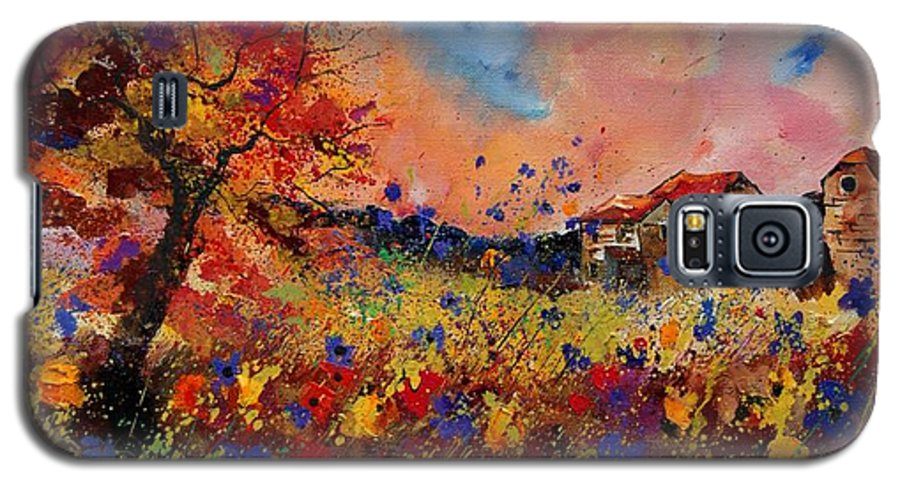 Poppies Galaxy S5 Case featuring the painting Autumn Colors by Pol Ledent