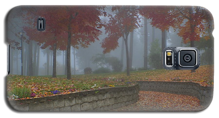 Autumn Galaxy S5 Case featuring the photograph Autumn Fog by Idaho Scenic Images Linda Lantzy