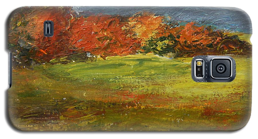 Landscape Galaxy S5 Case featuring the painting Autumn Is Here by Tami Booher