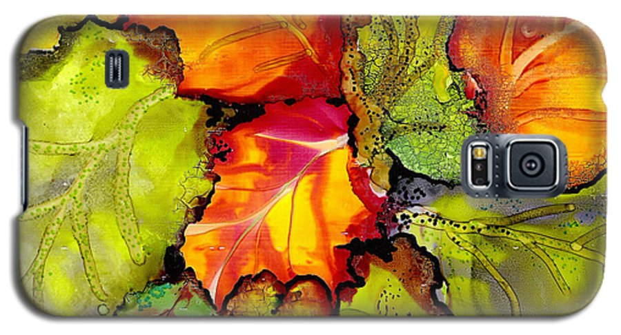 Leaves Galaxy S5 Case featuring the painting Autumn Leaves by Susan Kubes