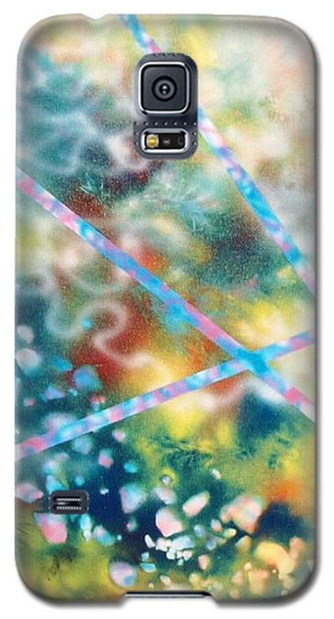 Abstract Galaxy S5 Case featuring the painting Autumn by Micah Guenther