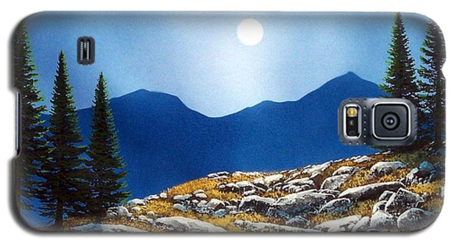 Landscape Galaxy S5 Case featuring the painting Autumn Moon by Frank Wilson
