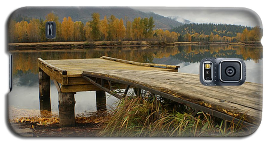 River Galaxy S5 Case featuring the photograph Autumn On The River by Idaho Scenic Images Linda Lantzy