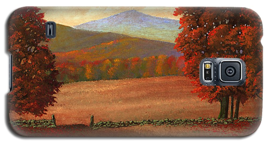 Autumn Galaxy S5 Case featuring the painting Autumn Pastures by Frank Wilson