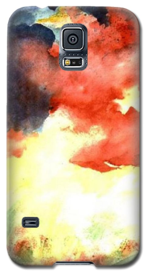 Autumn Galaxy S5 Case featuring the painting Autumn Storm by Andrew Gillette