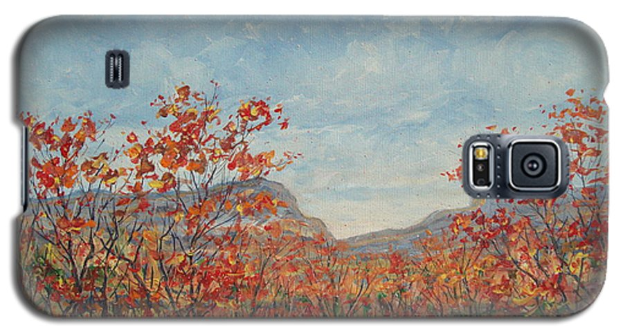 Paintings Galaxy S5 Case featuring the painting Autumn View. by Leonard Holland