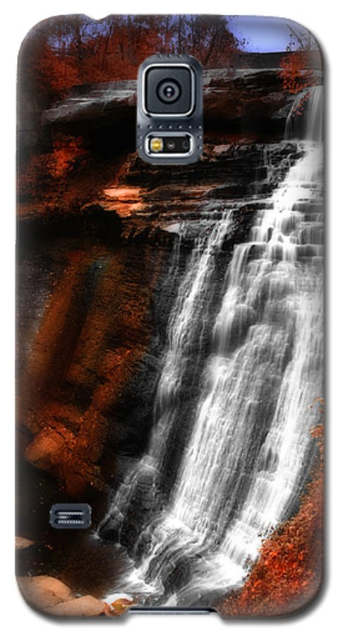 Autumn Galaxy S5 Case featuring the photograph Autumn Waterfall 3 by Kenneth Krolikowski