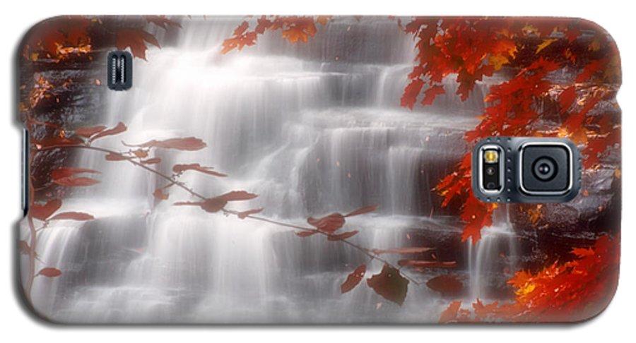 Autumn Galaxy S5 Case featuring the photograph Autumn Waterfall I by Kenneth Krolikowski