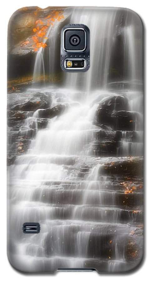 Autumn Galaxy S5 Case featuring the photograph Autumn Waterfall II by Kenneth Krolikowski