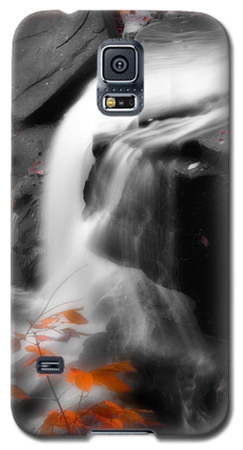 Autumn Galaxy S5 Case featuring the photograph Autumn Waterfall Iv by Kenneth Krolikowski
