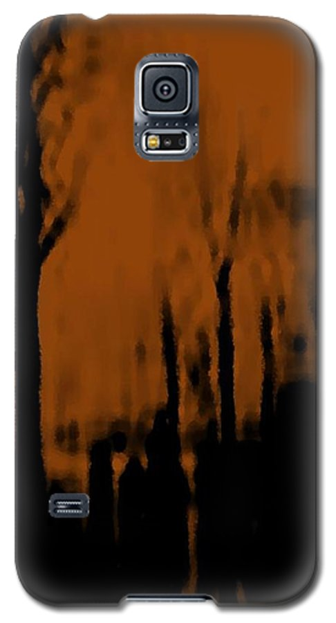 Trees.street.rain.clouds.wet People.the Naked Branches Of The Trees.the Gloomy Light. Galaxy S5 Case featuring the digital art Autumn Wet Day by Dr Loifer Vladimir