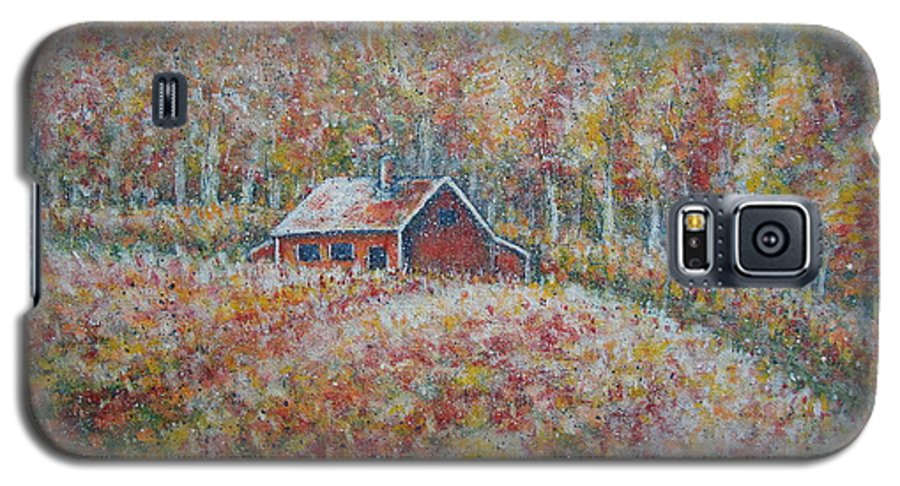 Landscape Galaxy S5 Case featuring the painting Autumn Whisper. by Natalie Holland