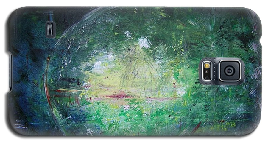 Abstract Galaxy S5 Case featuring the painting Awakening Abstract II by Lizzy Forrester