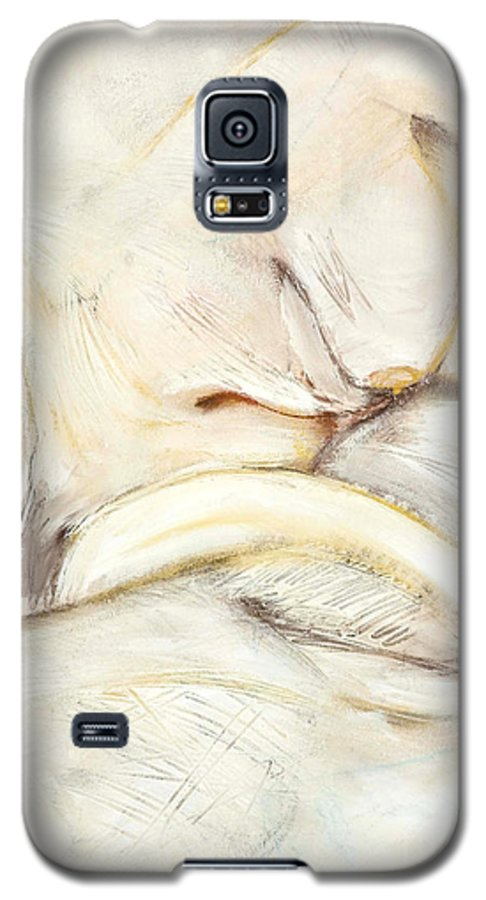 Female Galaxy S5 Case featuring the drawing Award Winning Abstract Nude by Kerryn Madsen-Pietsch