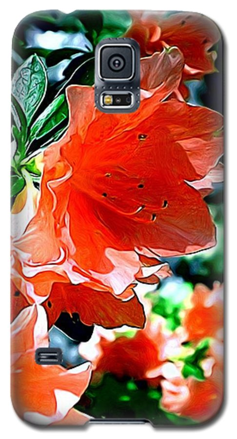 Fine Art Galaxy S5 Case featuring the painting Azaleas In The Spring by Patricia Griffin Brett