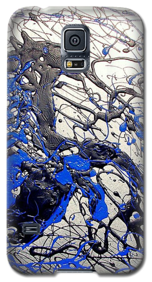 Stallion Horse Galaxy S5 Case featuring the painting Azul Diablo by J R Seymour
