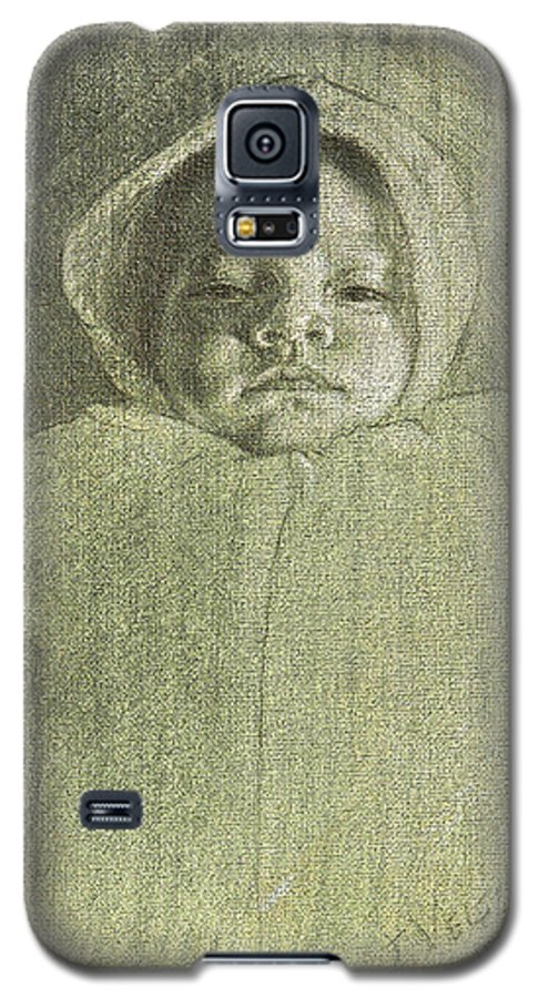 Galaxy S5 Case featuring the painting Baby Self Portrait by Joe Velez