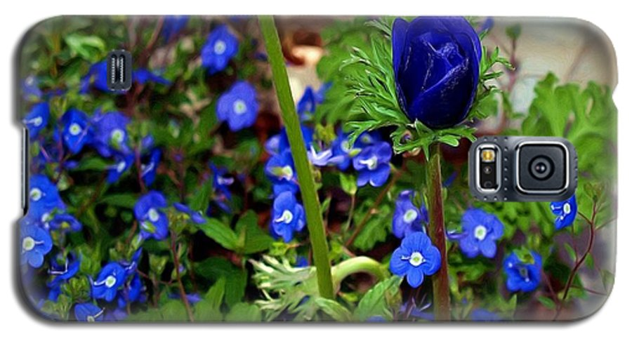 Fine Art Galaxy S5 Case featuring the painting Babys Got The Blues by Patricia Griffin Brett
