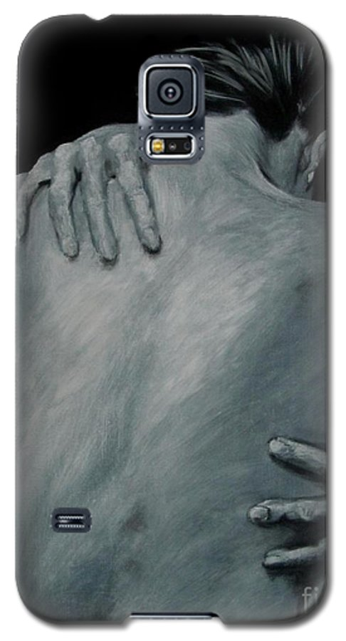 Nude Galaxy S5 Case featuring the painting Back Of Naked Woman by Jindra Noewi