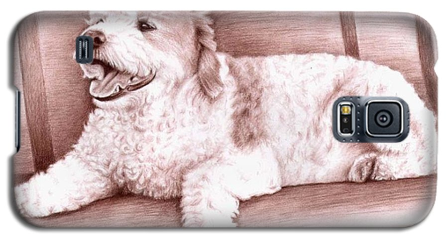Dog Galaxy S5 Case featuring the drawing Baco by Nicole Zeug