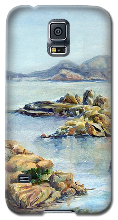 Landscape Galaxy S5 Case featuring the painting Baie by Muriel Dolemieux