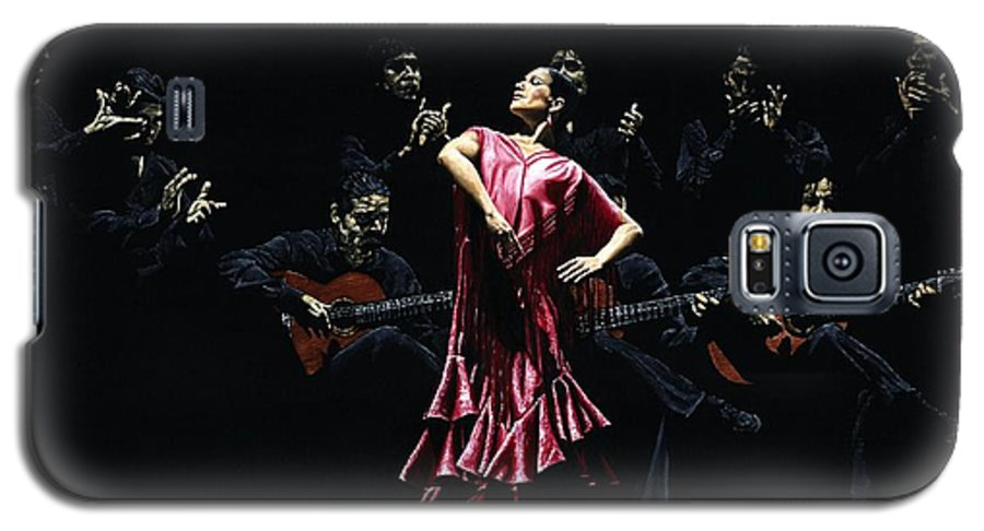 Flamenco Galaxy S5 Case featuring the painting Bailarina Orgullosa Del Flamenco by Richard Young