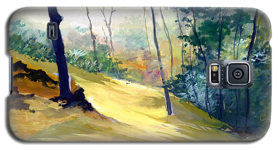 Landscape Galaxy S5 Case featuring the painting Balance by Anil Nene
