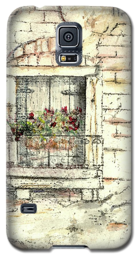 Venice Galaxy S5 Case featuring the painting Balcony Venice by Richard Bulman