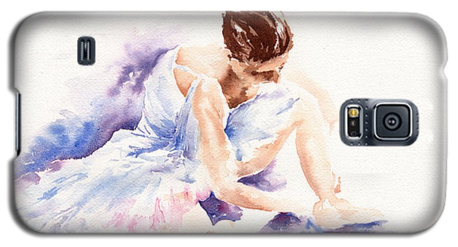 Ballerina Galaxy S5 Case featuring the painting Ballerina by Stephie Butler