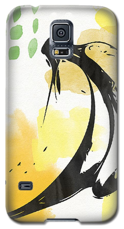 Bananas Galaxy S5 Case featuring the painting Bananas- Art By Linda Woods by Linda Woods
