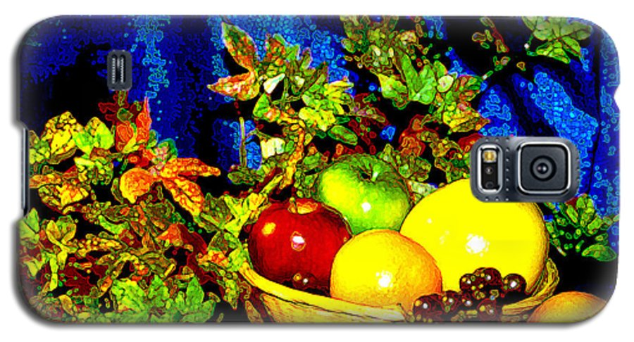 Fruit Galaxy S5 Case featuring the photograph Basket With Fruit by Nancy Mueller