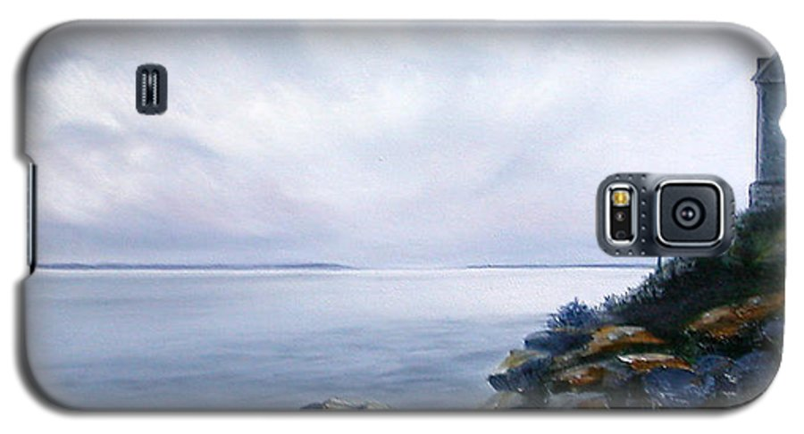 Ocean Galaxy S5 Case featuring the painting Bass Harbor Maine by Brenda Ellis Sauro