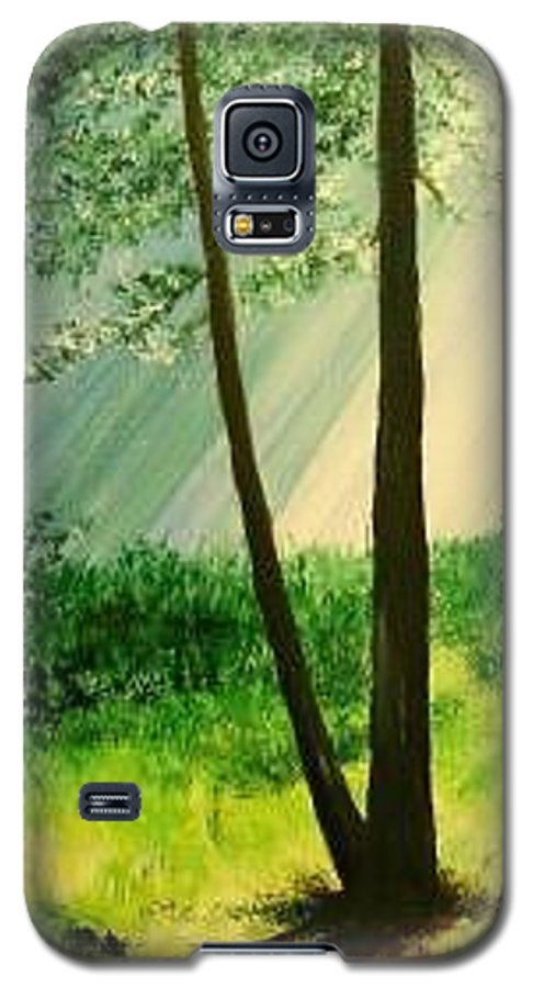 Light Galaxy S5 Case featuring the painting Bathed In Light by Lizzy Forrester