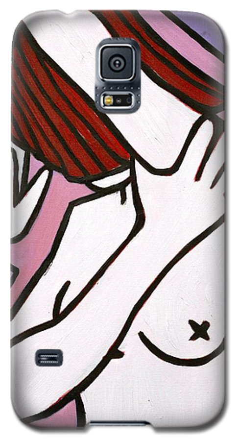 Nude Galaxy S5 Case featuring the painting Bather by Thomas Valentine
