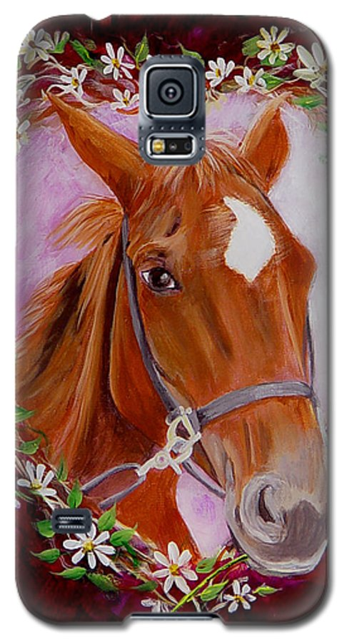 Horse Galaxy S5 Case featuring the painting Batuque by Quwatha Valentine