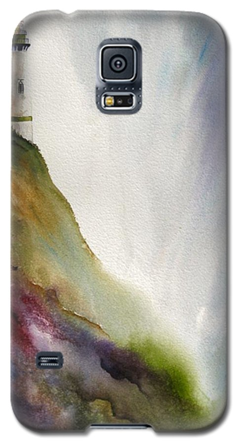 Lighthouse Galaxy S5 Case featuring the painting Beacon by Karen Stark